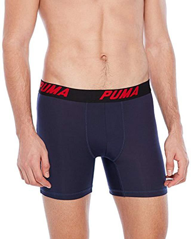 fc6c86a2eac Lyst - PUMA 3 Pack Tech Boxer Brief in Blue for Men