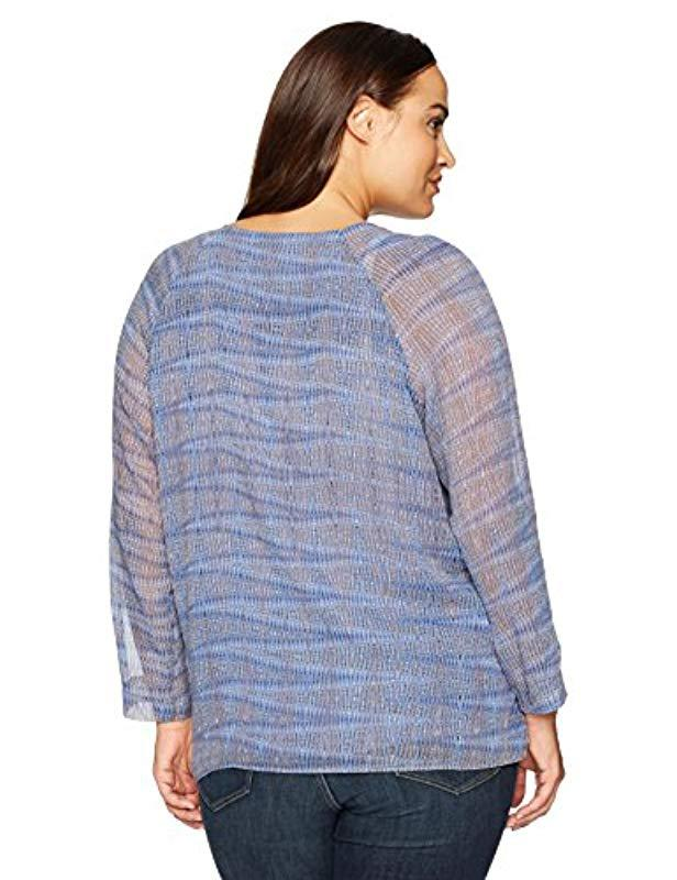 6d5f7bdcfd9 Lyst - NIC+ZOE Plus Size Oasis Blue Top in Blue - Save 5%