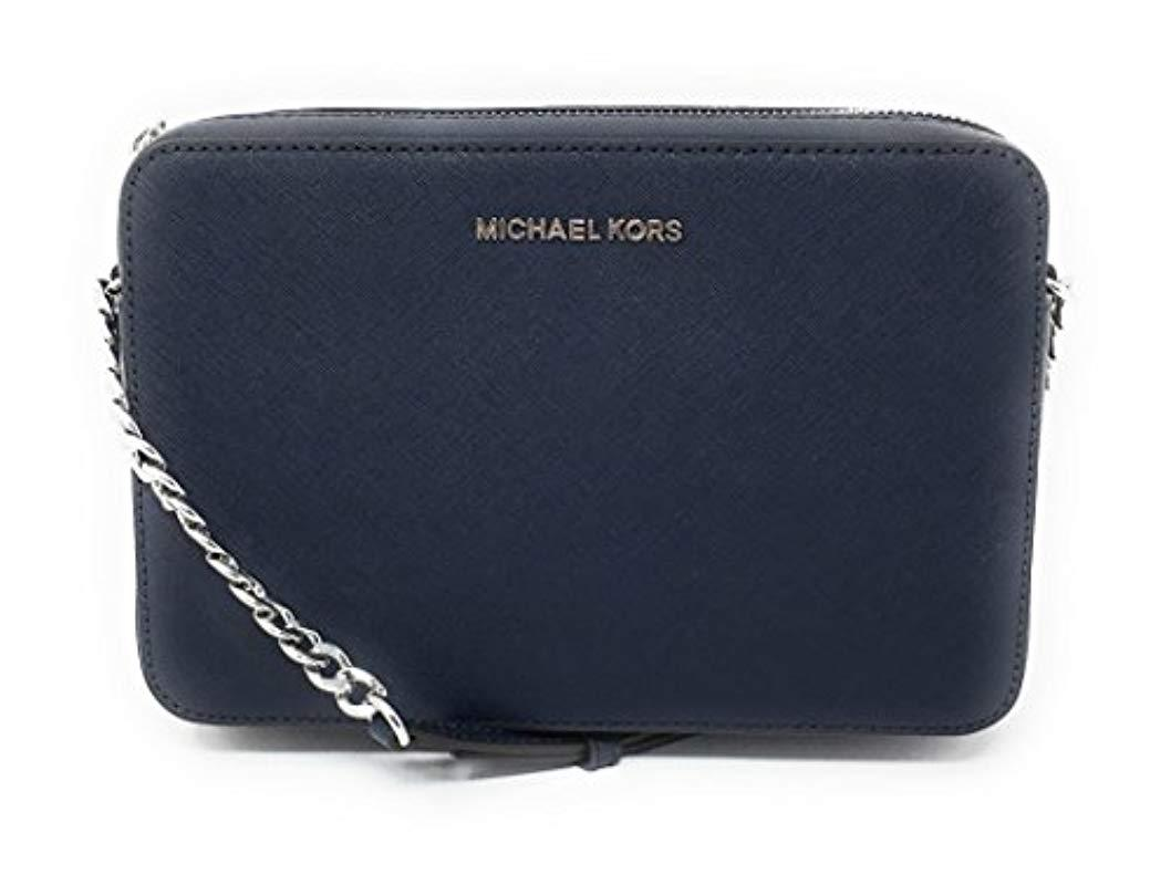 f348f2213aa7 Michael Kors - Blue Jet Set Item Large East West Cross-body - Lyst. View  fullscreen