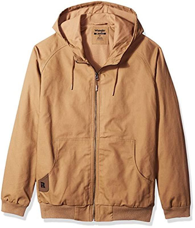 082da117 Wrangler. Men's Brown RIGGS Workwear Big And Tall Workhorse Hooded Jacket