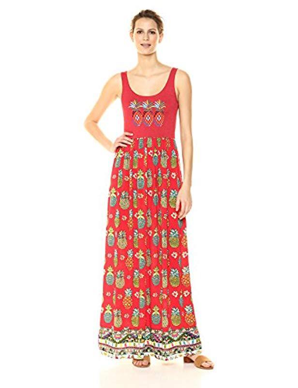 Lyst - Desigual Bonita 3 Sleeveless Dress in Red
