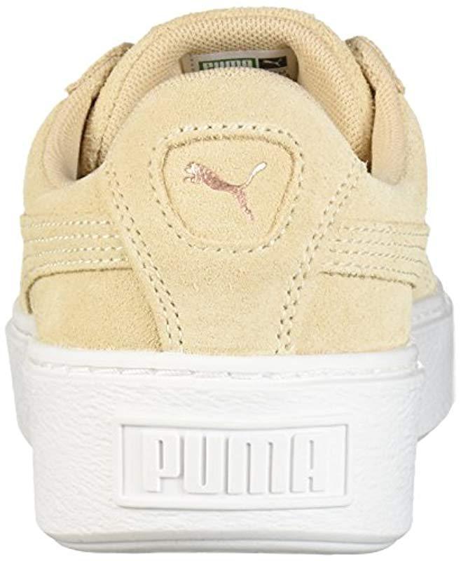 ae6f4c9c794d Lyst - PUMA Suede Platform Lunar Lux Wn Sneaker in Natural - Save 46%