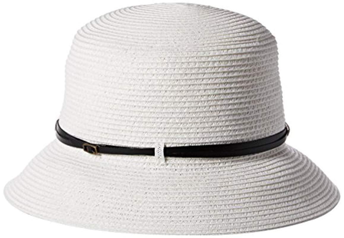 4ce568b16a0 Lyst - Nine West Packable Microbrim Hat in White