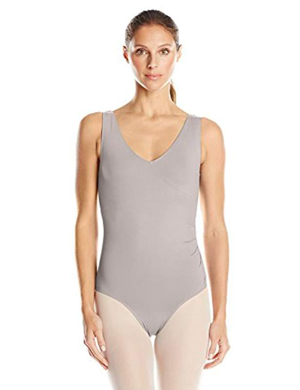 6a4acec478a4d Lyst - Danskin New York City Ballet Retro Style Fuax Wrap Leotard in ...