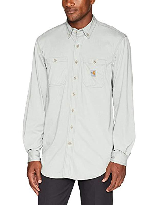 ed7da3ef78014 Lyst - Carhartt Flame Resistant Force Cotton Hybrid Shirt in Gray ...