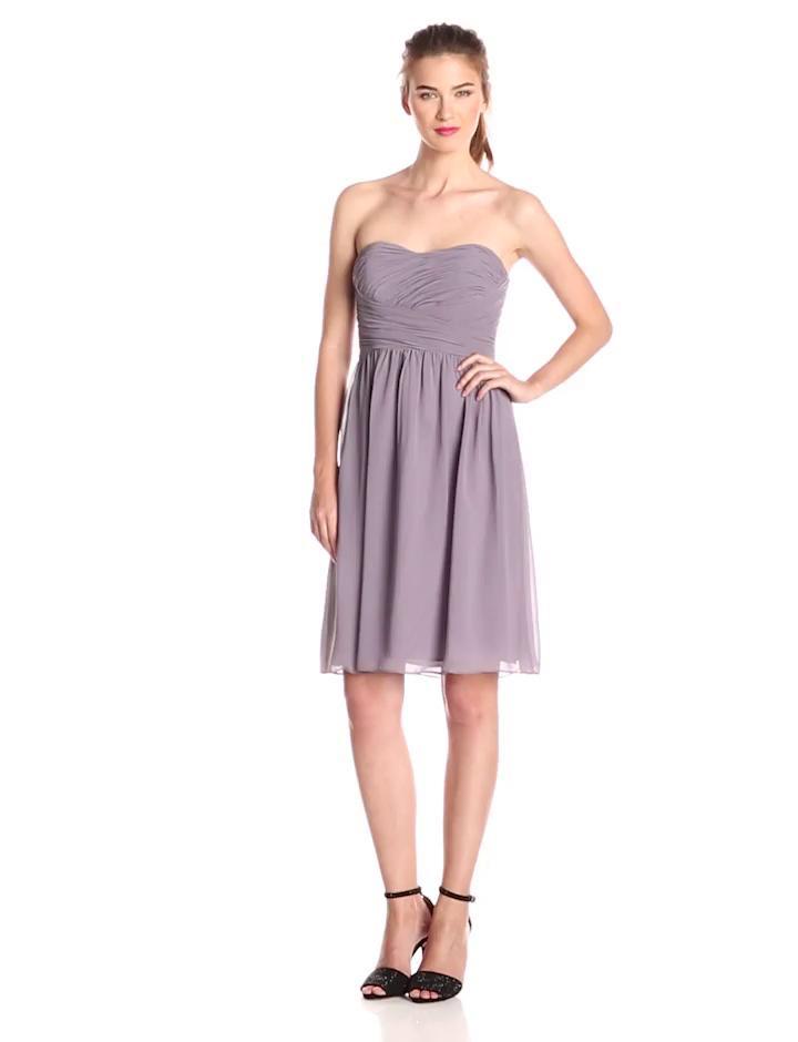 d8afef2d4d338 Donna Morgan - Purple Sarah Short Strapless Sweatheart Neckline Dress -  Lyst. View fullscreen