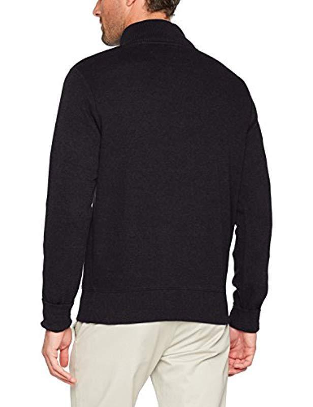 Lyst - Gant Sacker Rib Half Zip Collar Sweater in Blue for Men e85258048