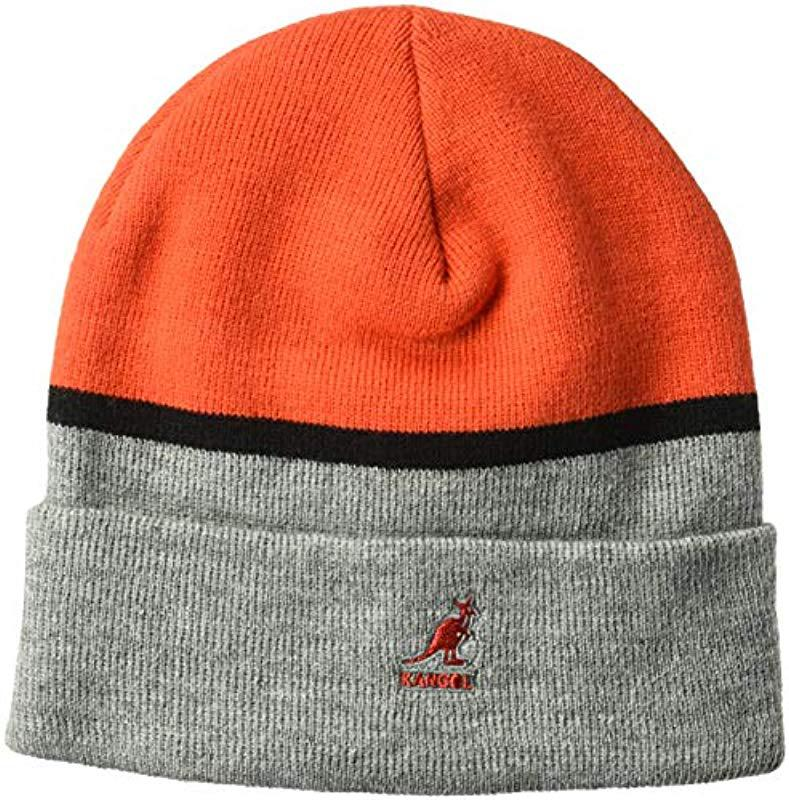 8c1418b8c0a Lyst - Kangol Sport Col Block Beanie Pull On Hat for Men