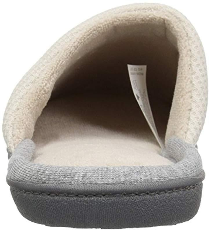 fe5764916659 Isotoner - Multicolor Waffle Knit Slip On Clog Slipper For Indoor outdoor  Comfort And Arch. View fullscreen
