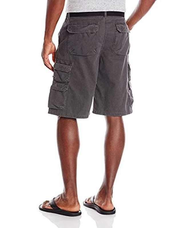 ca4204c2be6f Lyst - Wrangler Authentics Big & Tall Premium Twill Cargo Short in Gray for  Men - Save 30%