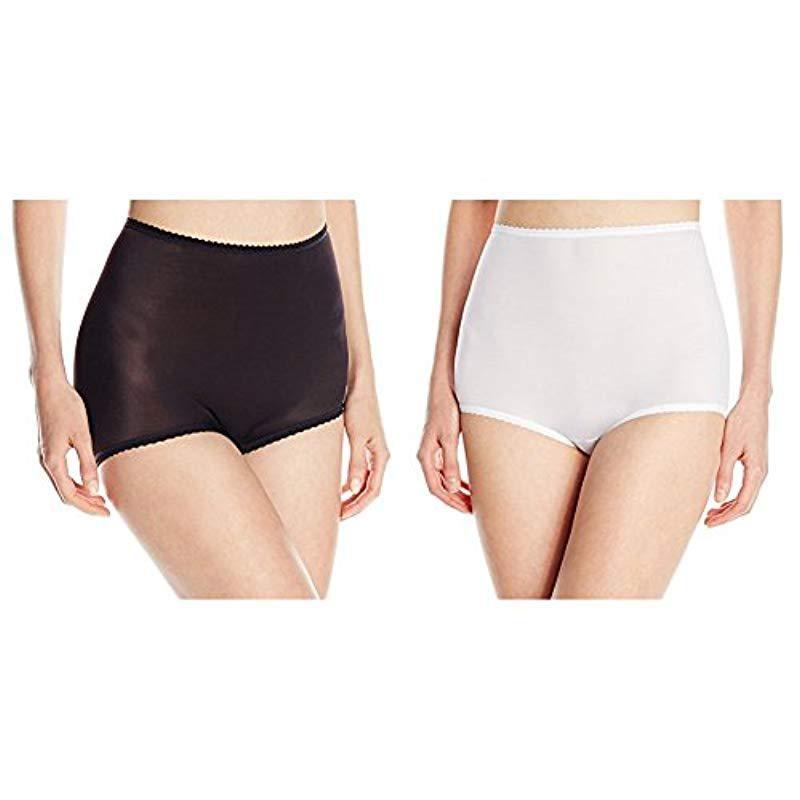 fbb0a012716 Lyst - Bali Skimp Skamp Brief Panty Number 2633 in Black