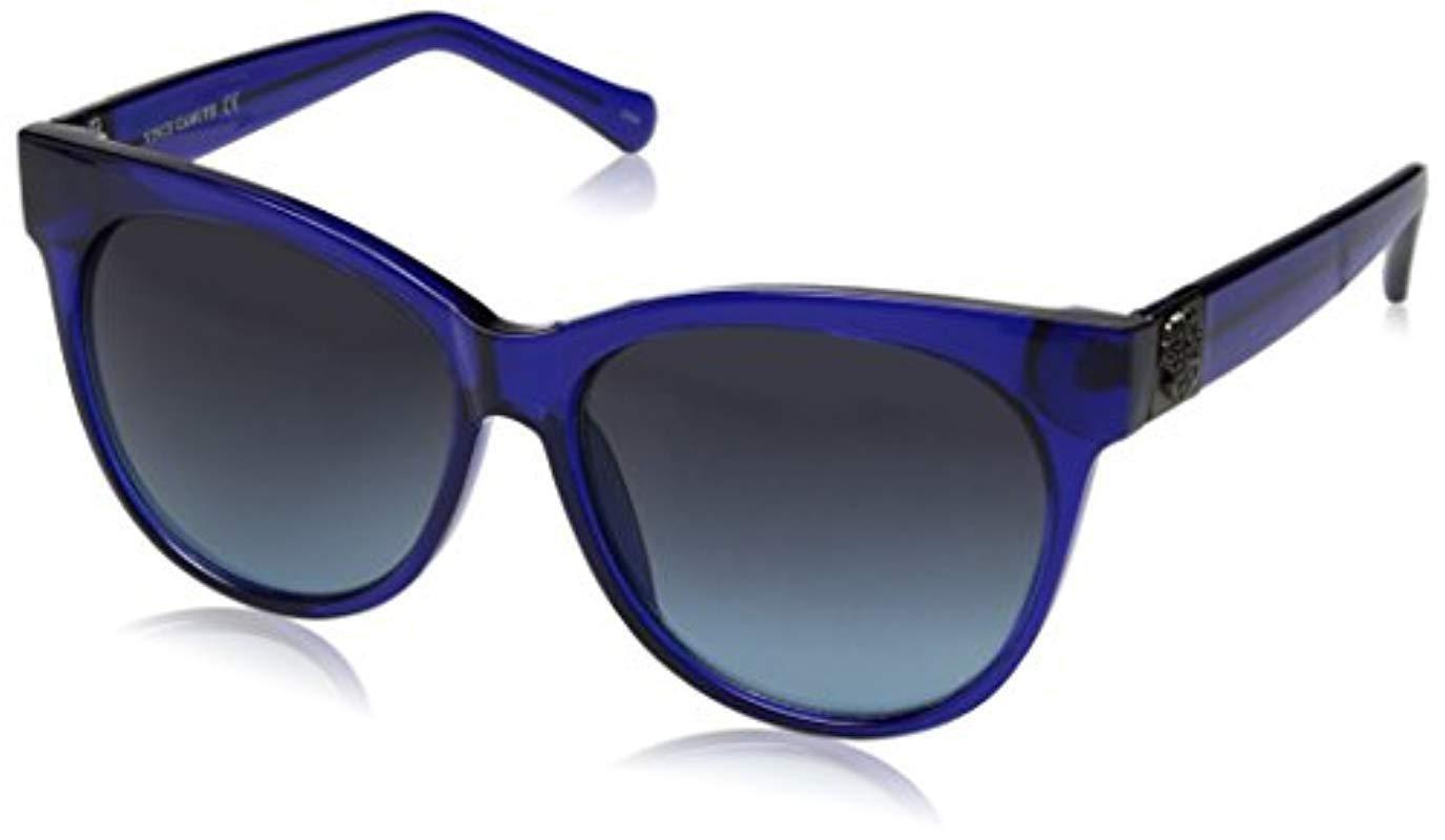 b26fbef22fe Lyst - Sam Edelman Vince Camuto Vc626 Bl Round Sunglasses in Blue ...