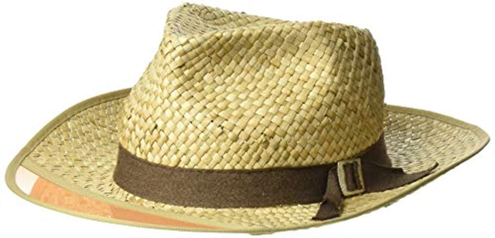 46fc1594776919 Lyst - Brixton Hunter Medium Brim Straw Fedora Hat for Men