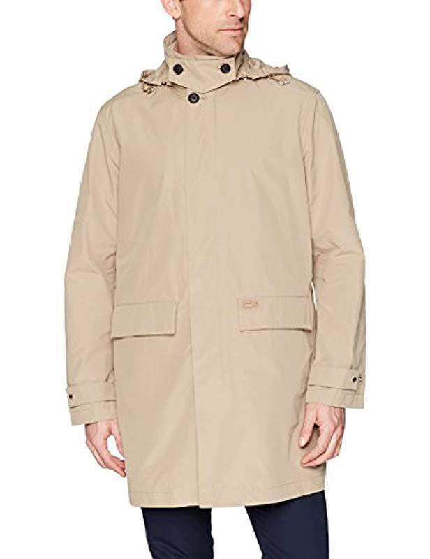 d6747c425 Lacoste. Men s Natural Taffeta Raincoat Jacket ...