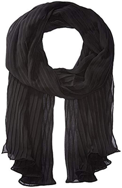 25db9250fbc Lyst - Steve Madden Solid Georette Pleated Evening Wrap in Black ...