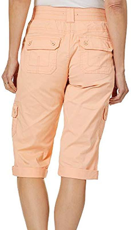 0d7f2b1024a50e Lee Jeans - Natural Flex-to-go Relaxed Fit Utility Capri Pant - Lyst. View  fullscreen