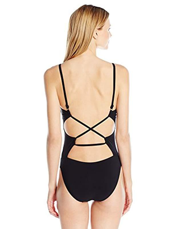 2f6b1cf9eca8 Lyst - Gottex Backless Scoop Neck One Piece Swimsuit in Black - Save 17%