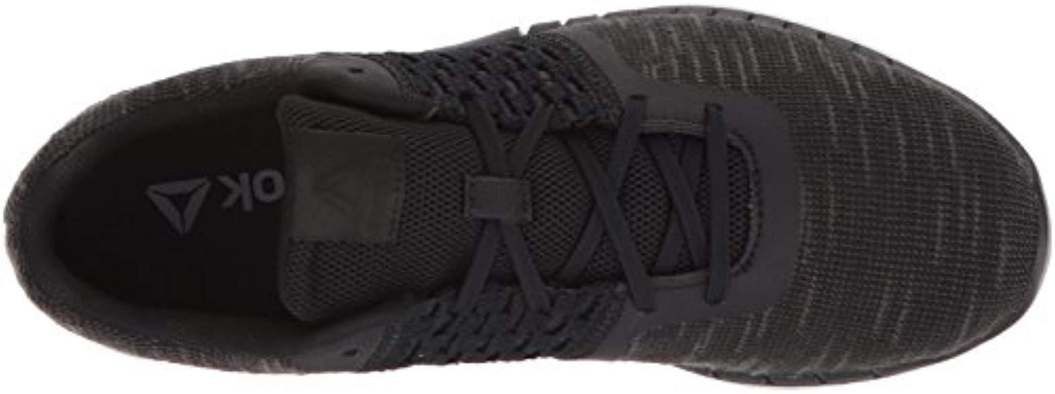 fe87b93ed31 Reebok - Black Print Run Dist Sneaker - Lyst. View fullscreen