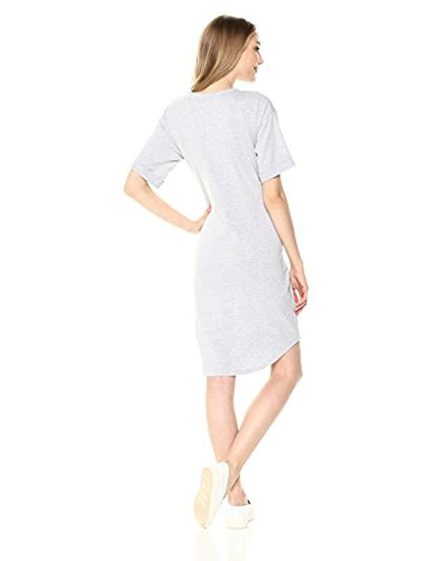 af205f2ed7 Lyst - MINKPINK Tie Front Knit Dress in Gray - Save 29%
