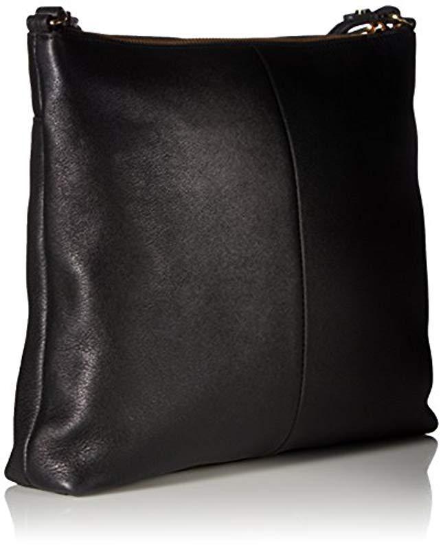 60f166437210 Lyst - Calvin Klein Pebble Top Zip N s Large Crossbody in Black