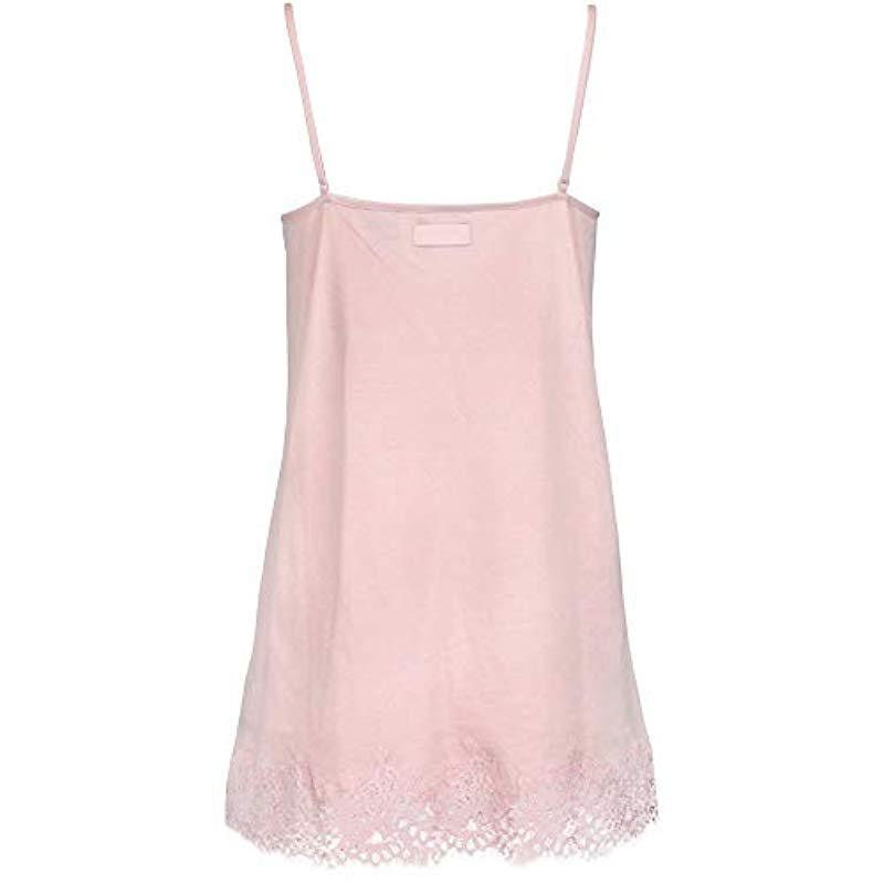 eec3a45dba3d Lyst - PUMA Fenty Lace Trim Sleepwear Teddy in Pink