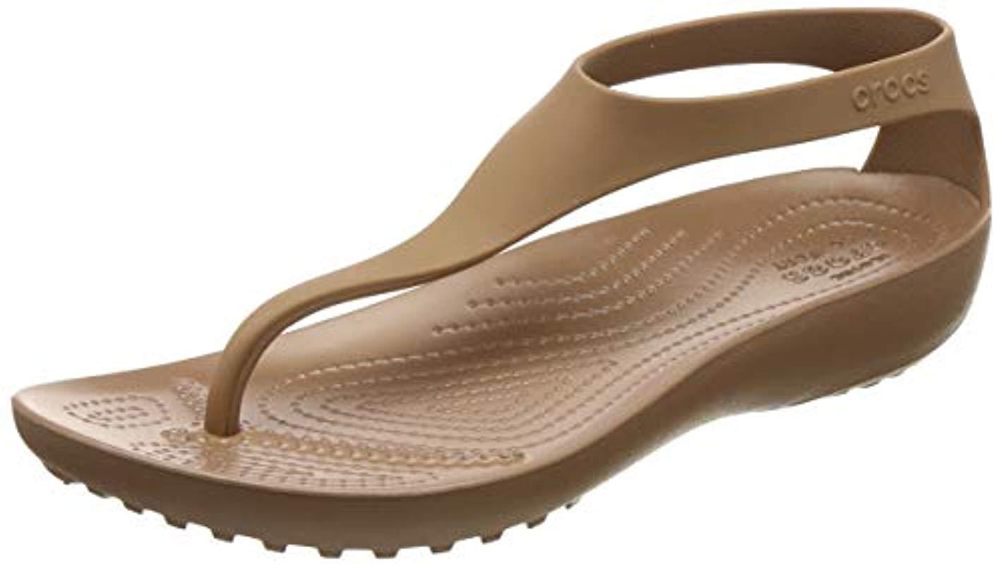 56971ae31 Lyst - Crocs™ Serena Flip Flop in Brown