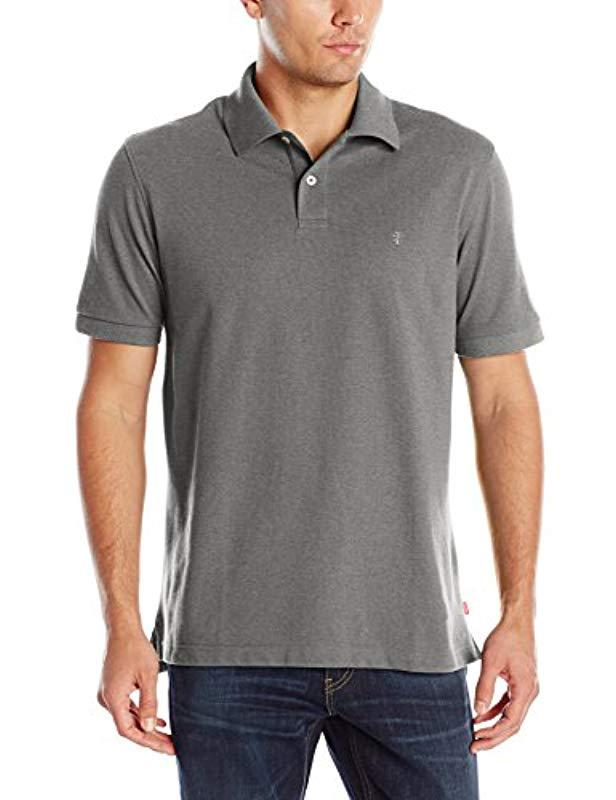 4312c5bc Lyst - Izod Heritage Solid Pique Polo in Gray for Men - Save 79%