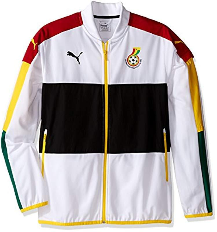 ecaf0a2a97b28 PUMA Ghana Stadium Jkt With 2 Side Pockets With Zip in Black for Men ...