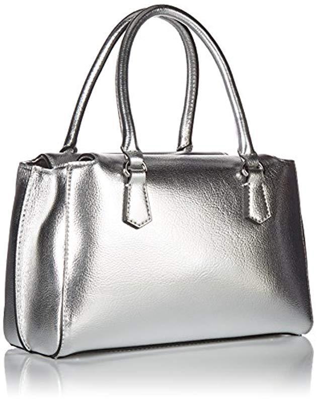 Lyst - Guess Felix Metallic Small Girlfriend Satchel in Metallic - Save 56% d3a9d9653287c