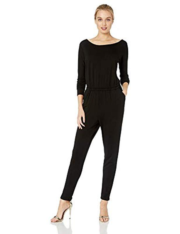 eb86d828131b Lyst - Cupcakes And Cashmere Carsen Boat Neck Knit Jumpsuit in Black