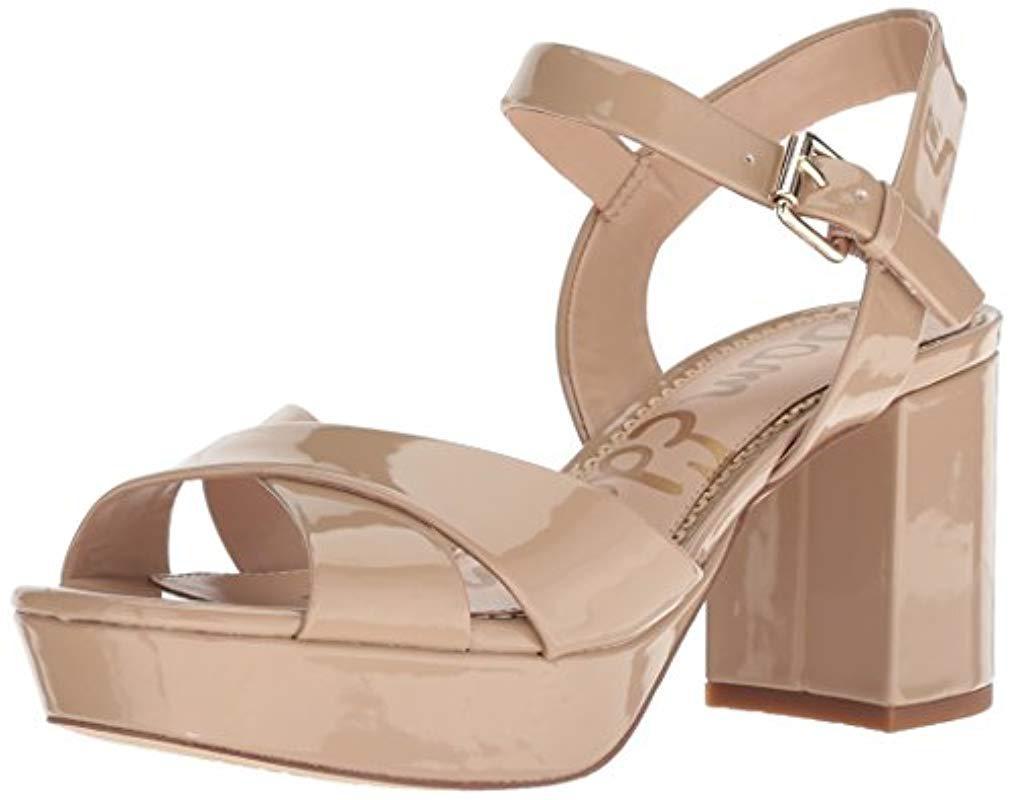 62561b4558b5 Lyst - Sam Edelman Jolene Heeled Sandal in Natural - Save 55%