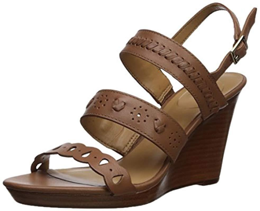 1c82ac12a2fe Lyst - Jack Rogers Arden Wedge Sandal in Brown - Save 76.19047619047619%