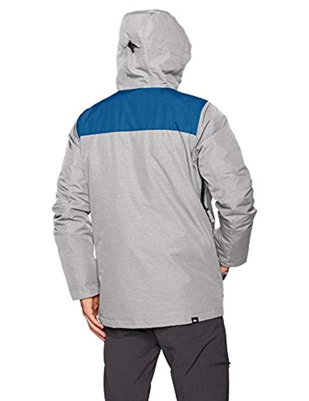 Lyst Quiksilver Raft 10k Snow Ski Snowboard Jacket In Gray For Men