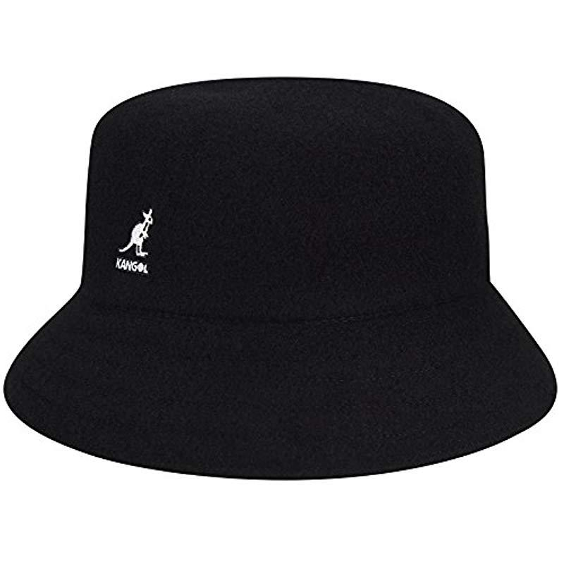 Lyst - Kangol Wool Lahinch Bucket Hat in Black for Men - Save 14% b4cc487e292