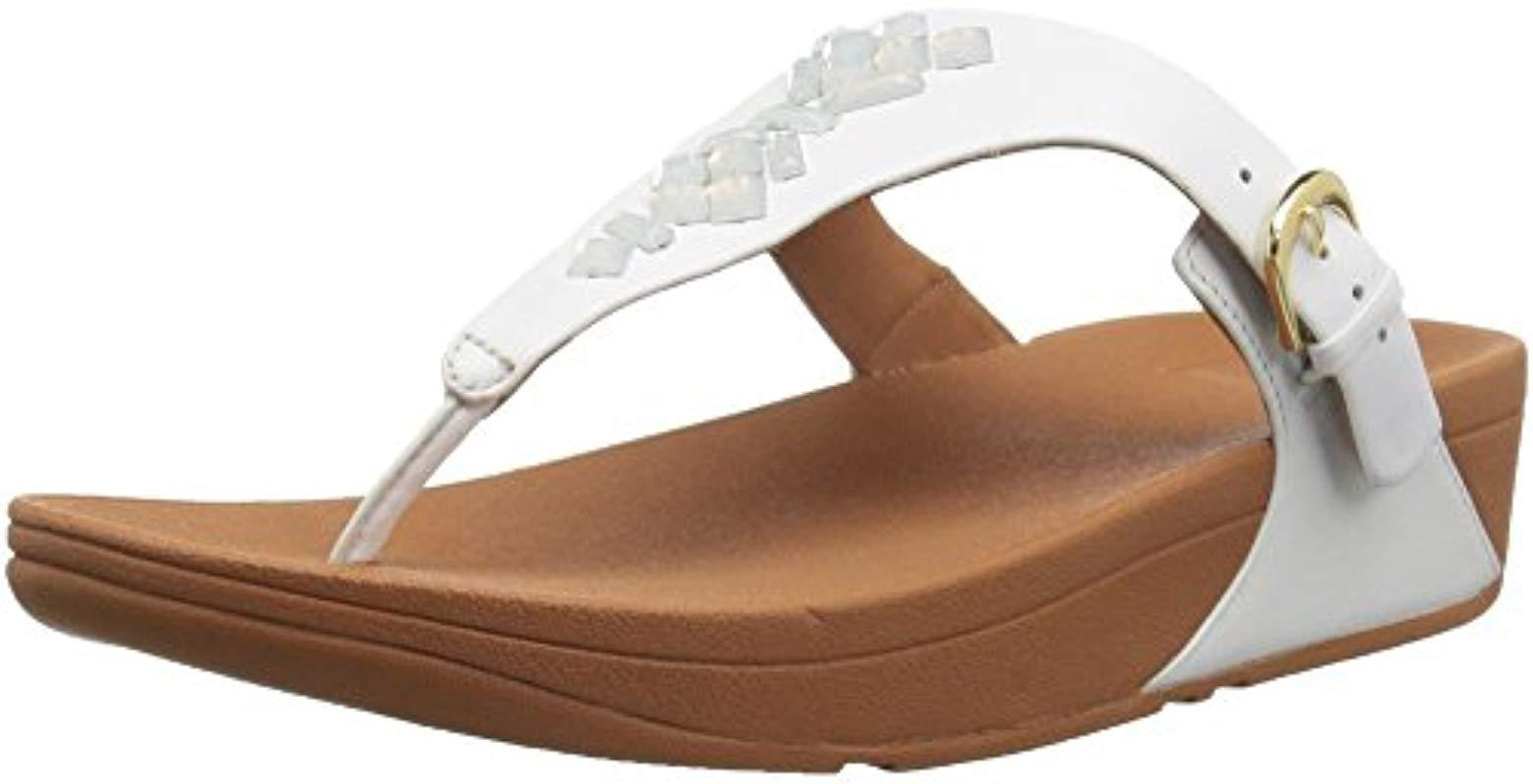 f8386fc7e8e3d Fitflop - White The Skinny Toe-thong Sandals-crystal - Lyst. View fullscreen