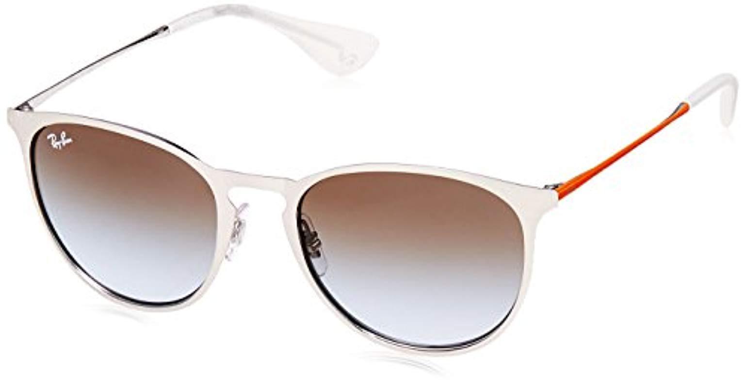 e7d7655e18 Ray-Ban. Women s Metallic Erika Metal Round Sunglasses ...