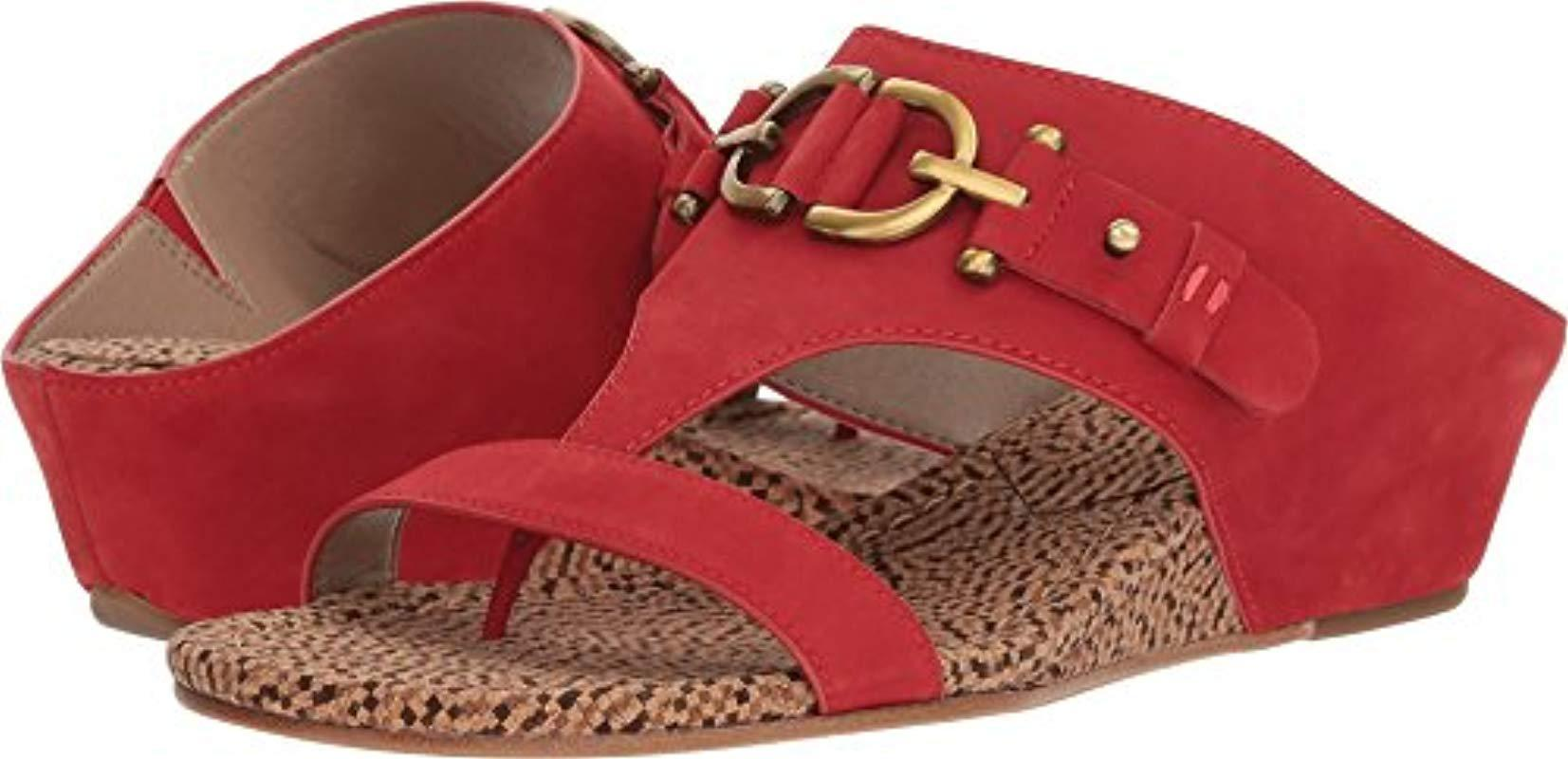 a4d05c1e3d Lyst - Donald J Pliner Dayna Wedge Sandal in Red - Save 32%
