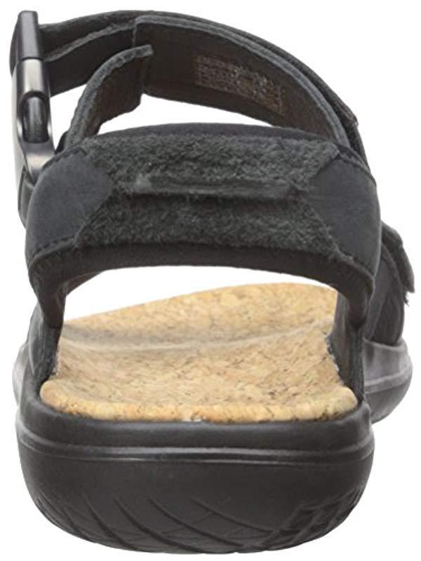 59ec8eeec Teva - Black Terra-float Universal Lux Leather Sandal for Men - Lyst. View  fullscreen