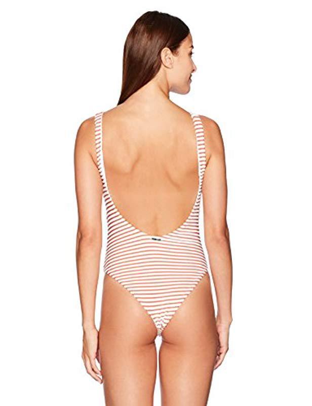 61dd382592 Lyst - Mara Hoffman Desa Lace-up One Piece Swimsuit - Save 55%
