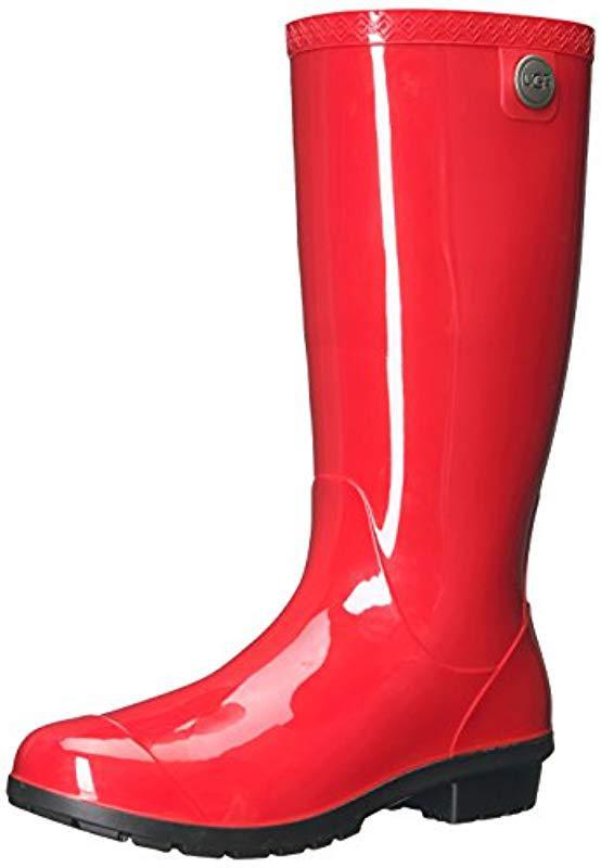 27f95c8694e Lyst - UGG Shaye Rain Boot in Red
