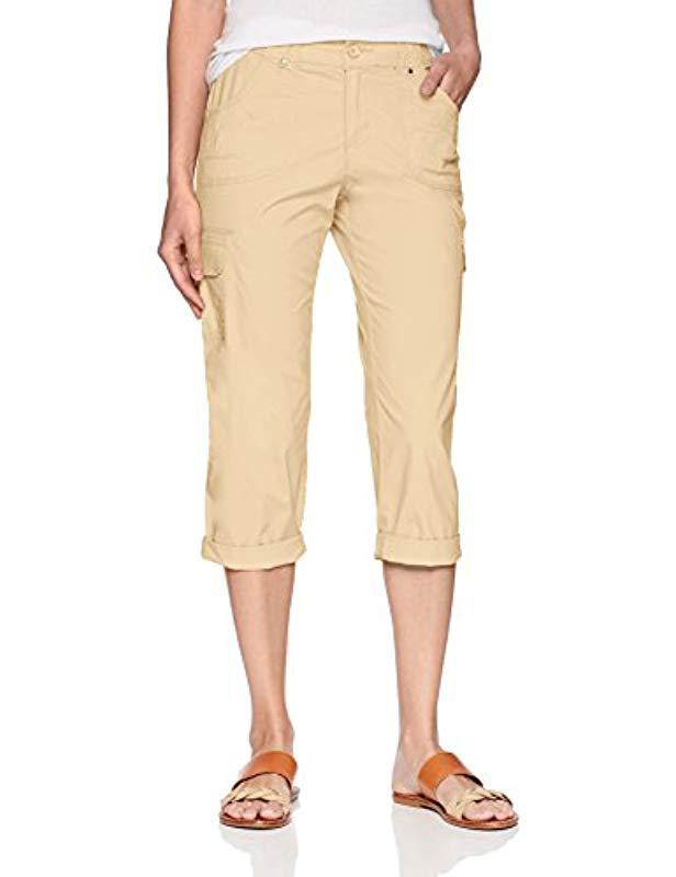 c09a041d Lee Jeans. Women's Natural Relaxed Fit Nikki Knit Waist Cargo Capri Pant