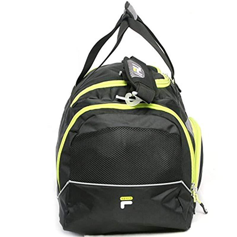 2b95e352a446 Fila - Black Donlon Small Duffel Gym Bag for Men - Lyst. View fullscreen