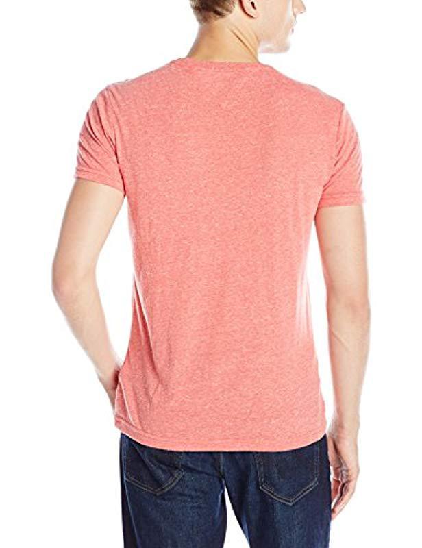 80acdb3a Lyst - Tommy Hilfiger Denim T Shirt Original Melange Crewneck Short Sleeves  in Pink for Men