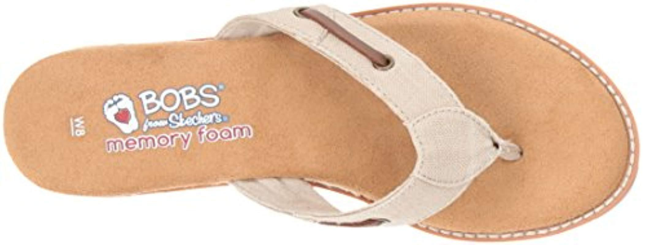 d5b14ba897d7 Skechers - Natural Bobs Desert Kiss-off Grid Flip-flop - Lyst. View  fullscreen