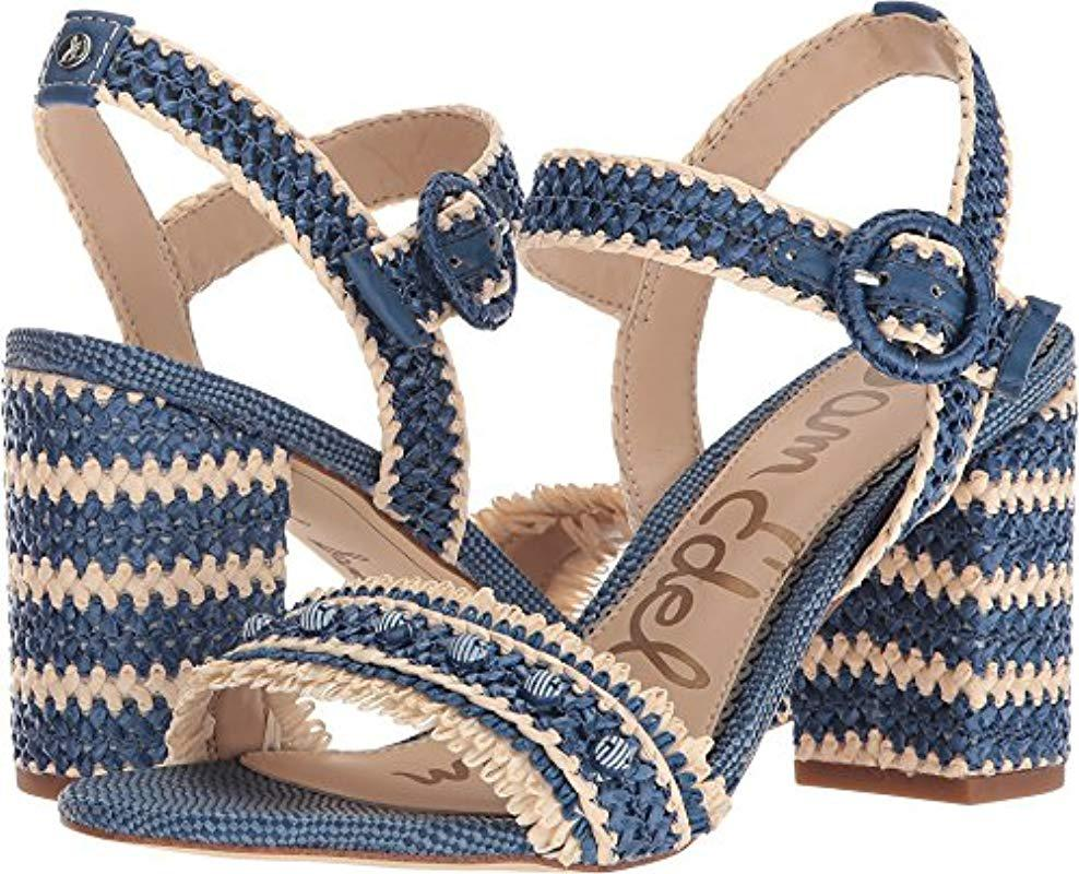 9c13ddf8aaa442 Lyst - Sam Edelman Olisa Heeled Sandal in Blue - Save 65%