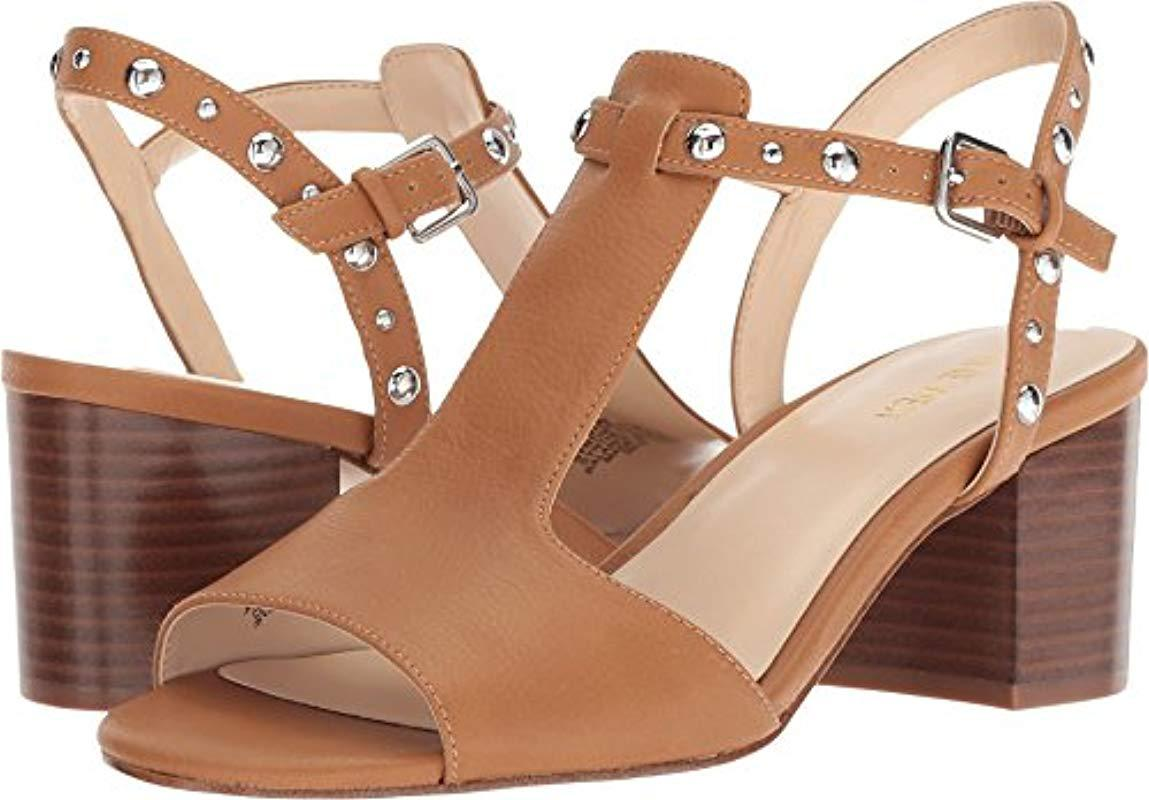 44556626e668 Lyst - Nine West Cydell Wedge Sandal in Natural - Save 28%