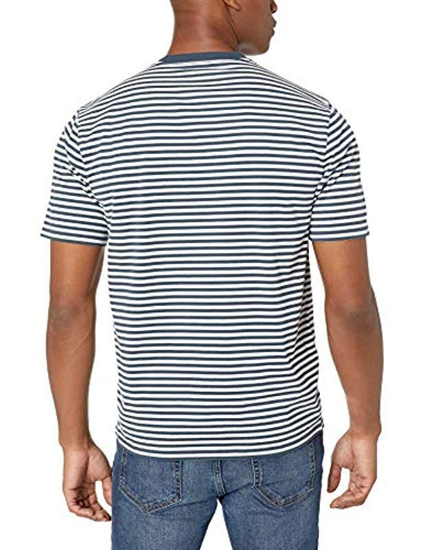 974367c9 Lyst - Amazon Essentials Loose-fit Short-sleeve Stripe V-neck T ...
