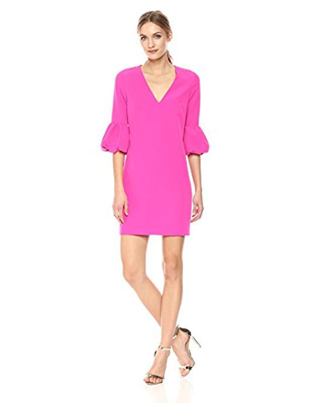 5136315a7c5 Lyst - MILLY Italian Cady Mandy Dress in Pink - Save 4%