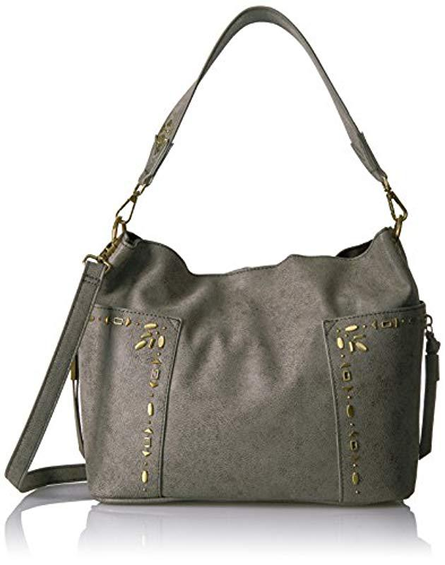 Lyst - Steve Madden Handbags Drew Outside Pockets Hobo That Can ... 2660e011bac2d