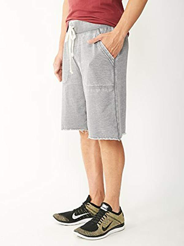 b0a3bf2e44 Lyst - Alternative Apparel Light French Terry Victory Short in Gray for Men  - Save 42%